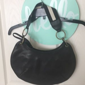 The Limited Bags - The Limited;dark brown; hobo style bag